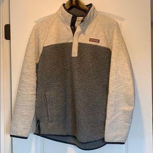 Vineyard Vines Sherpa pullover fleece